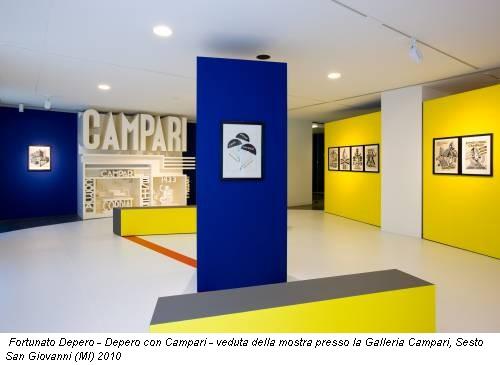 Fortunato Depero - Depero con Campari - veduta della mostra presso la Galleria Campari, Sesto San Giovanni (MI) 2010