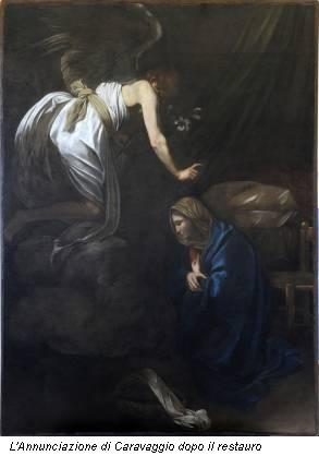 L'Annunciazione di Caravaggio dopo il restauro