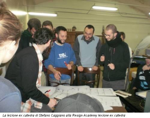 La lezione ex catedra di Stefano Caggiano alla Resign Academy lexione ex catedra