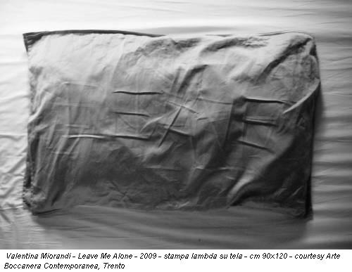 Valentina Miorandi - Leave Me Alone - 2009 - stampa lambda su tela - cm 90x120 - courtesy Arte Boccanera Contemporanea, Trento