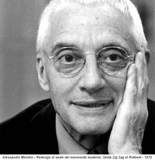 Alessandro Mendini - Redesign di sedie del movimento moderno: Sedia Zig Zag di Rietveld - 1978