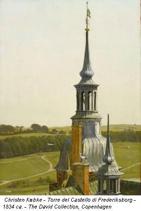 Christen Købke - Torre del Castello di Frederiksborg - 1834 ca. - The David Collection, Copenhagen