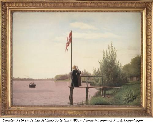 Christen Købke - Veduta del Lago Sortedam - 1838 - Statens Museum for Kunst, Copenhagen
