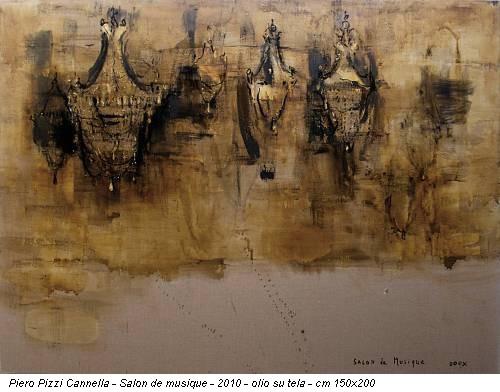 Piero Pizzi Cannella - Salon de musique - 2010 - olio su tela - cm 150x200