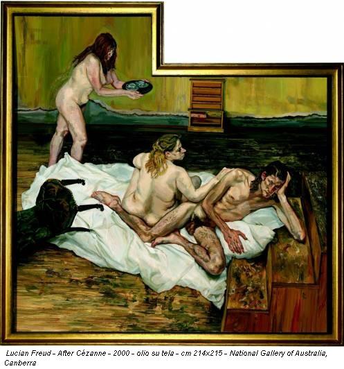 Lucian Freud - After Cézanne - 2000 - olio su tela - cm 214x215 - National Gallery of Australia, Canberra