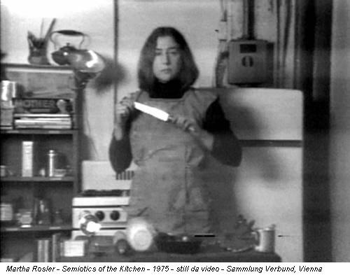 Martha Rosler - Semiotics of the Kitchen - 1975 - still da video - Sammlung Verbund, Vienna