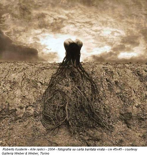 Roberto Kusterle - Alle radici - 2004 - fotografia su carta baritata virata - cm 45x45 - courtesy Galleria Weber & Weber, Torino