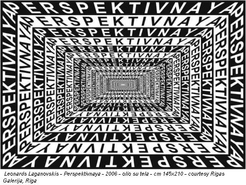 Leonards Laganovskis - Perspektivnaya - 2006 - olio su tela - cm 145x210 - courtesy Rigas Galerija, Riga