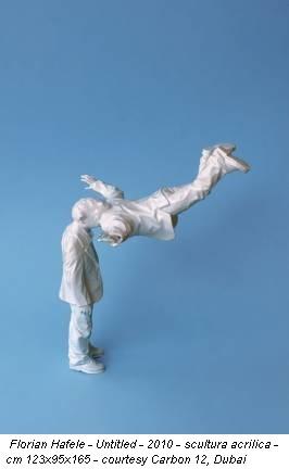 Florian Hafele - Untitled - 2010 - scultura acrilica - cm 123x95x165 - courtesy Carbon 12, Dubai