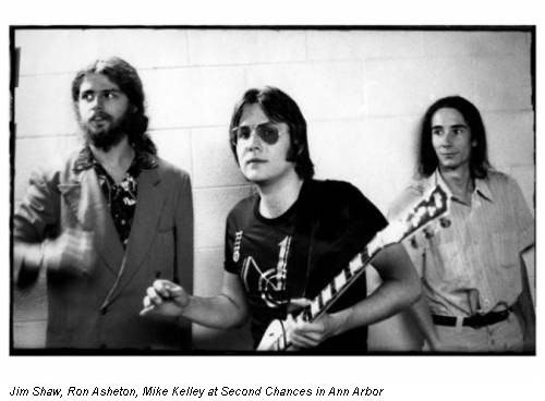 Jim Shaw, Ron Asheton, Mike Kelley at Second Chances in Ann Arbor