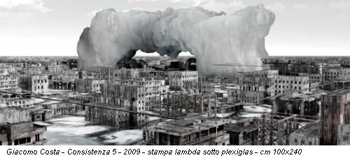 Giacomo Costa - Consistenza 5 - 2009 - stampa lambda sotto plexiglas - cm 100x240