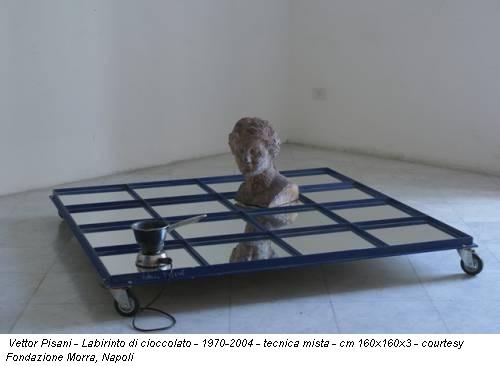 Vettor Pisani - Labirinto di cioccolato - 1970-2004 - tecnica mista - cm 160x160x3 - courtesy Fondazione Morra, Napoli