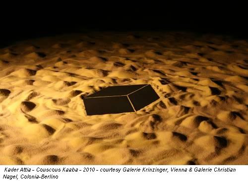 Kader Attia - Couscous Kaaba - 2010 - courtesy Galerie Krinzinger, Vienna & Galerie Christian Nagel, Colonia-Berlino