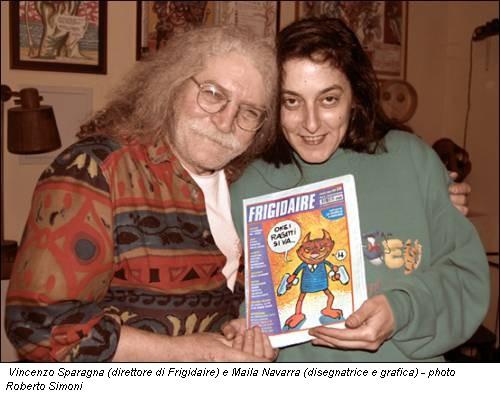 Vincenzo Sparagna (direttore di Frigidaire) e Maila Navarra (disegnatrice e grafica) - photo Roberto Simoni