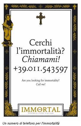 Un numero di telefono per l'immortalità