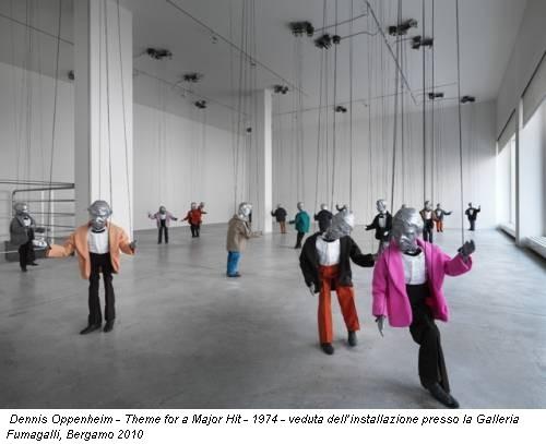 Dennis Oppenheim - Theme for a Major Hit - 1974 - veduta dell'installazione presso la Galleria Fumagalli, Bergamo 2010