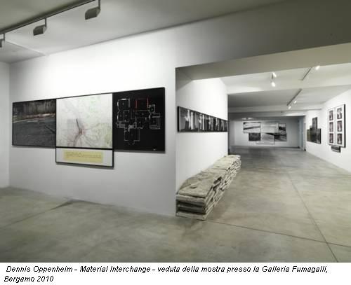 Dennis Oppenheim - Material Interchange - veduta della mostra presso la Galleria Fumagalli, Bergamo 2010