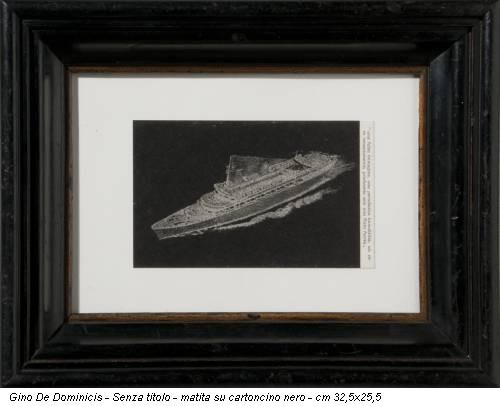 Gino De Dominicis - Senza titolo - matita su cartoncino nero - cm 32,5x25,5
