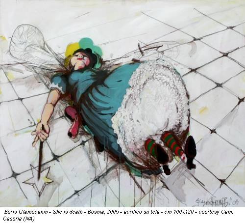 Boris Glamocanin - She is death - Bosnia, 2005 - acrilico su tela - cm 100x120 - courtesy Cam, Casoria (NA)
