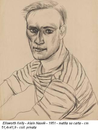 Ellsworth Kelly - Alain Naudé - 1951 - matita su carta - cm 51,4x41,9 - coll. privata