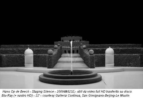 Hans Op de Beeck - Staging Silence - 2009- still da video full HD trasferito su disco Blu-Ray (+ nastro HD) - 22' - courtesy Galleria Continua, San Gimignano-Beijing-Le Moulin