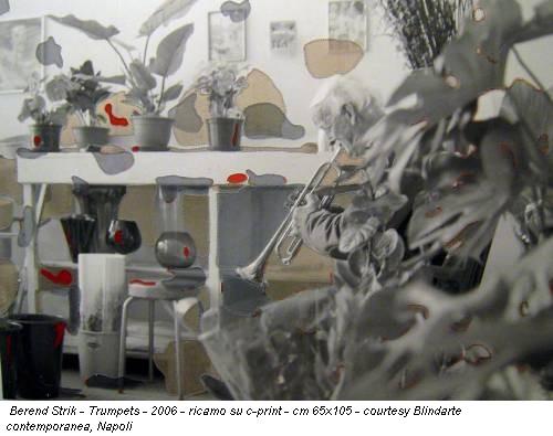 Berend Strik - Trumpets - 2006 - ricamo su c-print - cm 65x105 - courtesy Blindarte contemporanea, Napoli