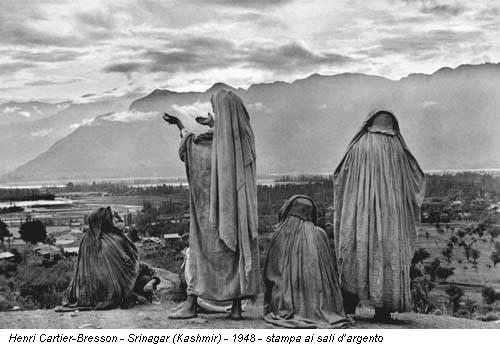 Henri Cartier-Bresson - Srinagar (Kashmir) - 1948 - stampa ai sali d'argento