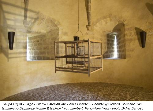 Shilpa Gupta - Cage - 2010 - materiali vari - cm 117x99x99 - courtesy Galleria Continua, San Gimignano-Beijing-Le Moulin & Galerie Yvon Lambert, Parigi-New York - photo Didier Barroso