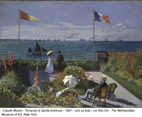 Claude Monet - Terrasse à Sainte-Adresse - 1867 - olio su tela - cm 98x130 - The Metropolitan Museum of Art, New York