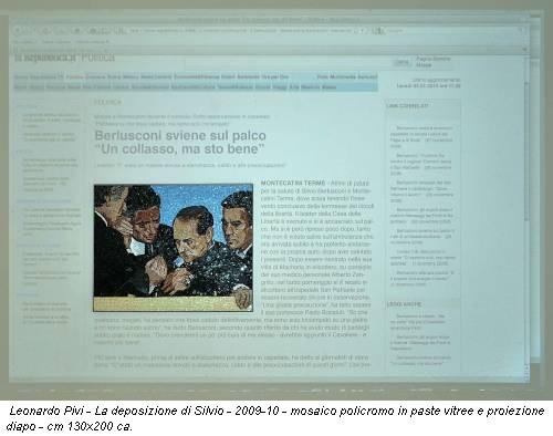 Leonardo Pivi - La deposizione di Silvio - 2009-10 - mosaico policromo in paste vitree e proiezione diapo - cm 130x200 ca.