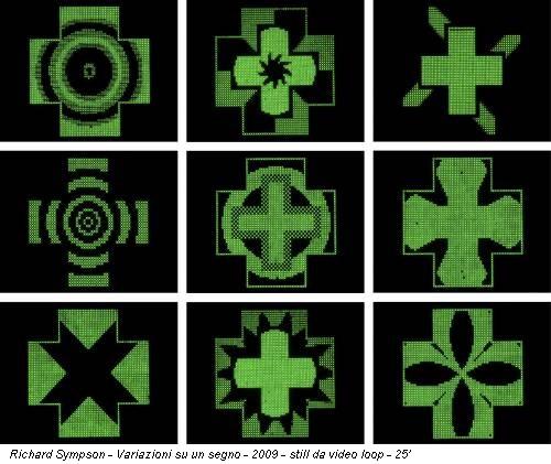 Richard Sympson - Variazioni su un segno - 2009 - still da video loop - 25'