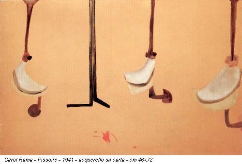 Carol Rama - Pissoire - 1941 - acquerello su carta - cm 46x72