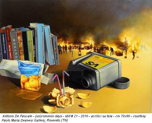 Antonio De Pascale - (un)common days - still # 21 - 2010 - acrilici su tela - cm 70x90 - courtesy Paolo Maria Deanesi Gallery, Rovereto (TN)