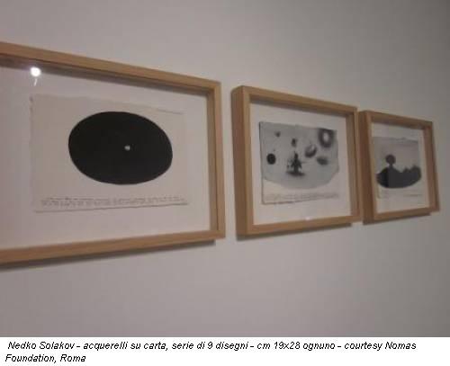 Nedko Solakov - acquerelli su carta, serie di 9 disegni - cm 19x28 ognuno - courtesy Nomas Foundation, Roma