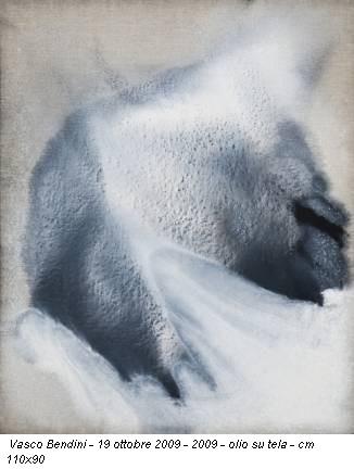 Vasco Bendini - 19 ottobre 2009 - 2009 - olio su tela - cm 110x90