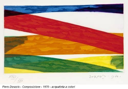 Piero Dorazio - Composizione - 1970 - acquatinta a colori