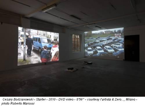 Cezary Bodzianowski - Starter - 2010 - DVD video - 8'56'' - courtesy l'artista & Zero..., Milano - photo Roberto Marossi
