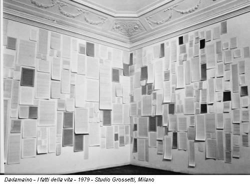 Dadamaino - I fatti della vita - 1979 - Studio Grossetti, Milano