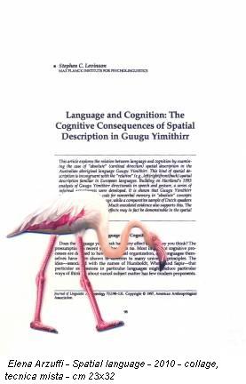 Elena Arzuffi - Spatial language - 2010 - collage, tecnica mista - cm 23x32