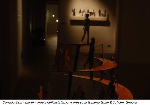 Corrado Zeni - Babel - veduta dell'installazione presso la Galleria Guidi & Schoen, Genova