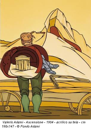 Valerio Adami - Ascensione - 1984 - acrilico su tela - cm 198x147 - © Fondo Adami