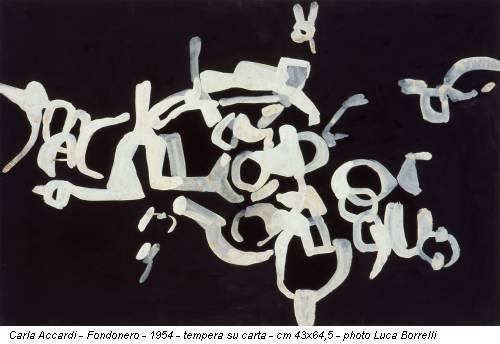Carla Accardi - Fondonero - 1954 - tempera su carta - cm 43x64,5 - photo Luca Borrelli