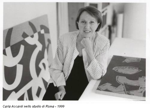 Carla Accardi nello studio di Roma - 1999