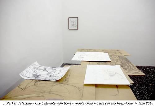 J. Parker Valentine - Cut-Outs-Inter-Sections - veduta della mostra presso Peep-Hole, Milano 2010