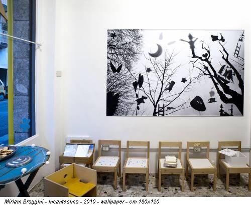 Miriam Broggini - Incantesimo - 2010 - wallpaper - cm 180x120