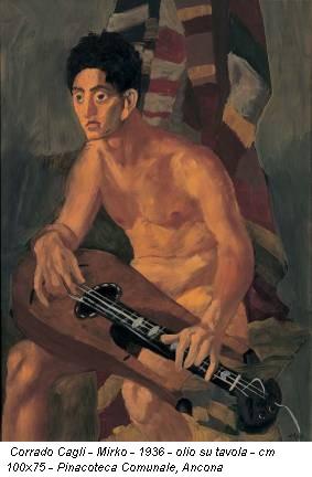 Corrado Cagli - Mirko - 1936 - olio su tavola - cm 100x75 - Pinacoteca Comunale, Ancona