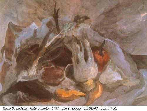 Mirko Basaldella - Natura morta - 1934 - olio su tavola - cm 32x47 - coll. privata
