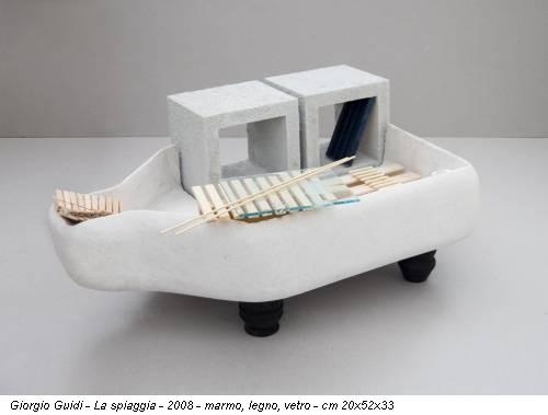 Giorgio Guidi - La spiaggia - 2008 - marmo, legno, vetro - cm 20x52x33