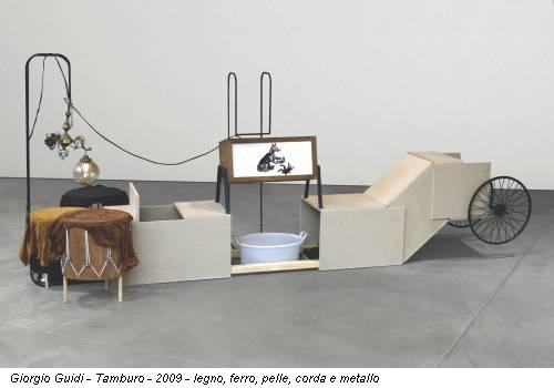 Giorgio Guidi - Tamburo - 2009 - legno, ferro, pelle, corda e metallo