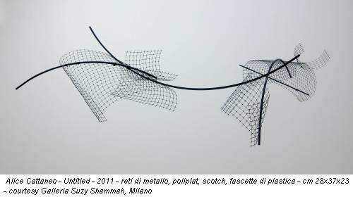 Alice Cattaneo - Untitled - 2011 - reti di metallo, poliplat, scotch, fascette di plastica - cm 28x37x23 - courtesy Galleria Suzy Shammah, Milano
